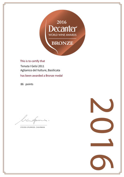 2016 Decanter World Wine Award - Bronze